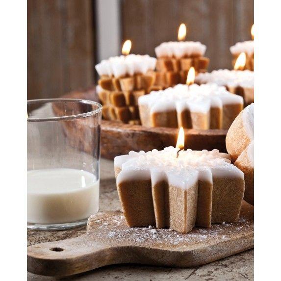 Bougie parfumée gâteau étoile 11cm biscuit