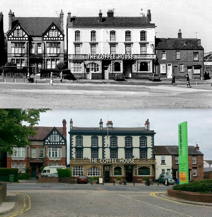 The Coffee House, Church Rd, Wavertree, 1976 and 2016