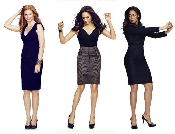 Work Style Ladies From The Tv Show Suits I Like The Middle Outfit