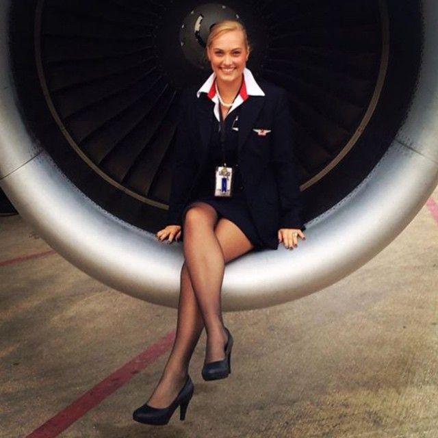 Flight attendant gets jet logs hardcore sex in plane to a hot horny passenger 5