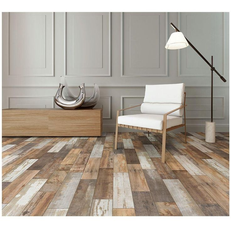 marazzi montagna wood vintage chic 6 in x 24 in porcelain floor and wall