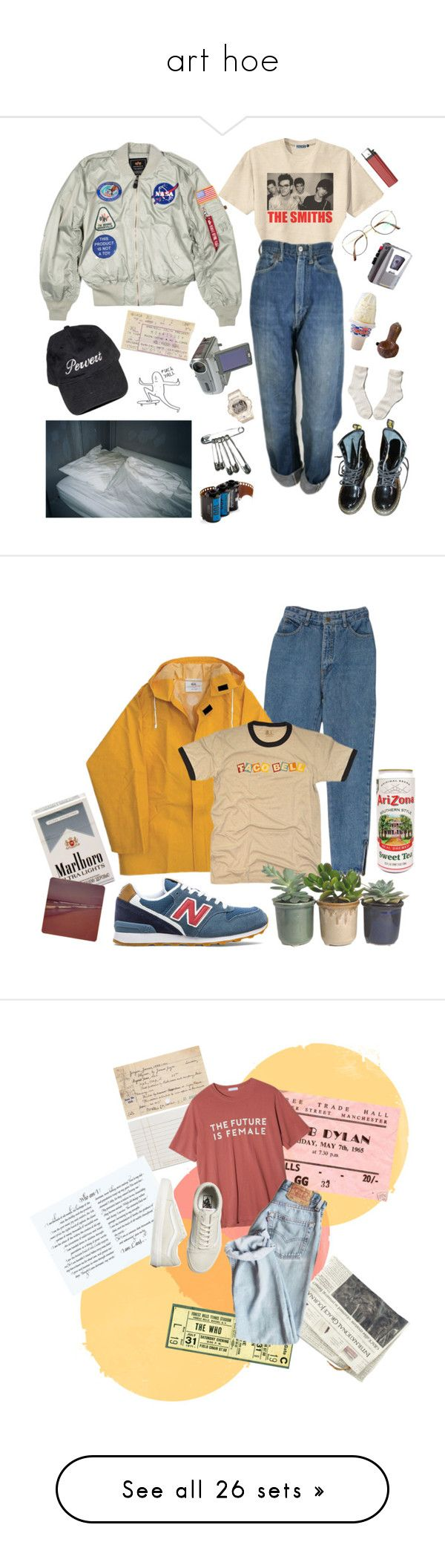 """art hoe"" by litzoromanian ❤ liked on Polyvore featuring Retrò, Levi's, Benetton, Baby-G, Sony, Dr. Martens, Abercrombie & Fitch, Lomography, New Balance and Hostess"