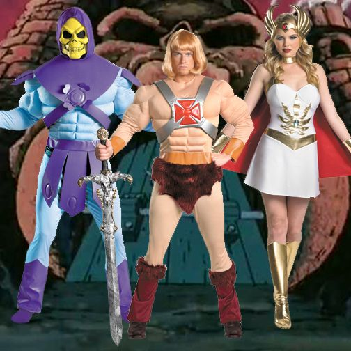 adult cartoon tv show masters of the universe he man skeletor she ra costume - Universe Halloween Costume