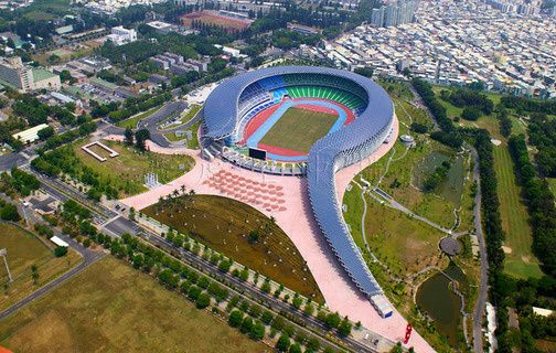 Solar Stadium in Taiwain. Design inspired by a dragon.