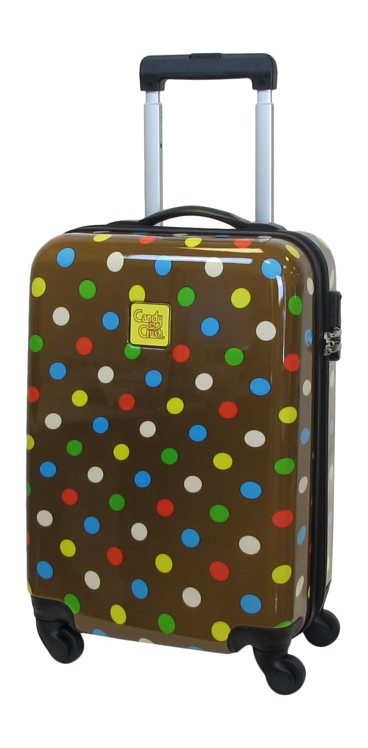 Candy Crush Cabin Bag Dots Small, Multi-Colored, One Size. Aluminum adjustable handle. Plastic wheels.