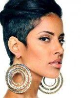 Black African American short hairstyles 2014