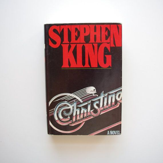 Christine  Stephen King  Book Club Edition  by ThisCharmingManCave  https://www.etsy.com/listing/225506336/christine-stephen-king-book-club-edition