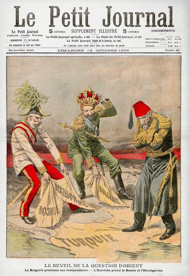 Austro-Ugarska je 7. listopada 1908. proglasila aneksiju Bosne i Hercegovine zbog težnji prema tom prostoru od strane Turske i Srbije.