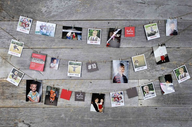 Here are 12 creative graduation photo display ideas and examples to make party planning easier. Have your grad help with graduation photo display ideas.