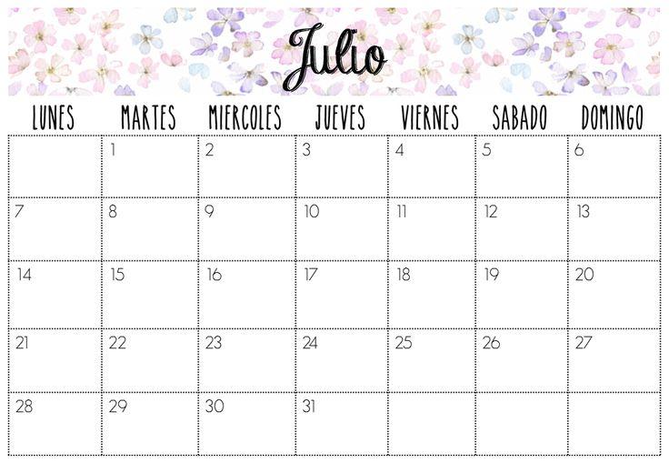 Calendario Julio 2014 | Imprimibles