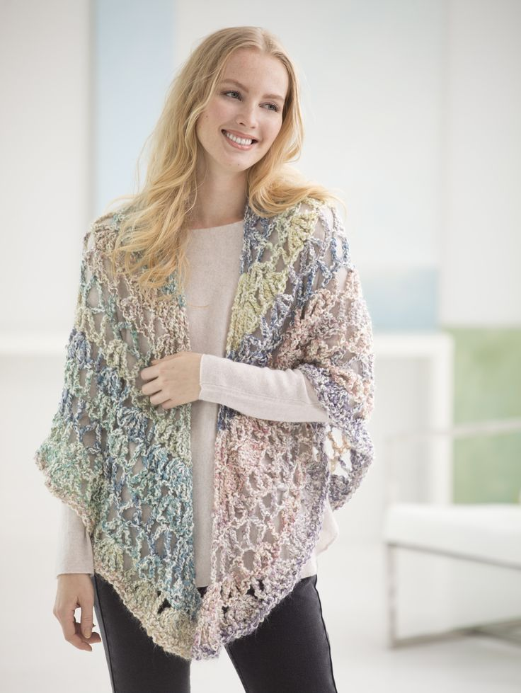 *Free Pattern: Triangle Shawl - I made this for Mom and it worked up fast and looked pretty