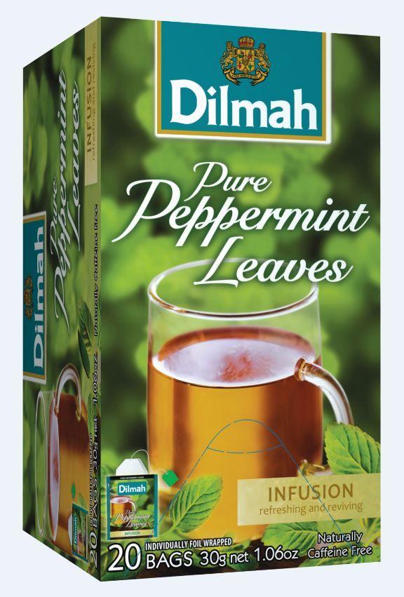 Čaj Dilmah z listi poprove mete.