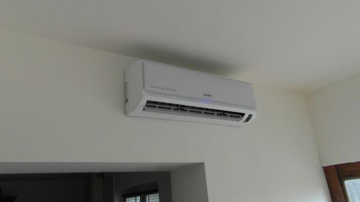 Montaż klimatyzatora Samsung serii E+ z jonizatorem powietrza w domu jednorodzinnym