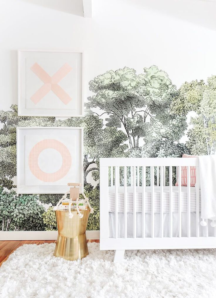 A Baby Girl's Blush and Green Nursery. And Monroe Workshop toy.