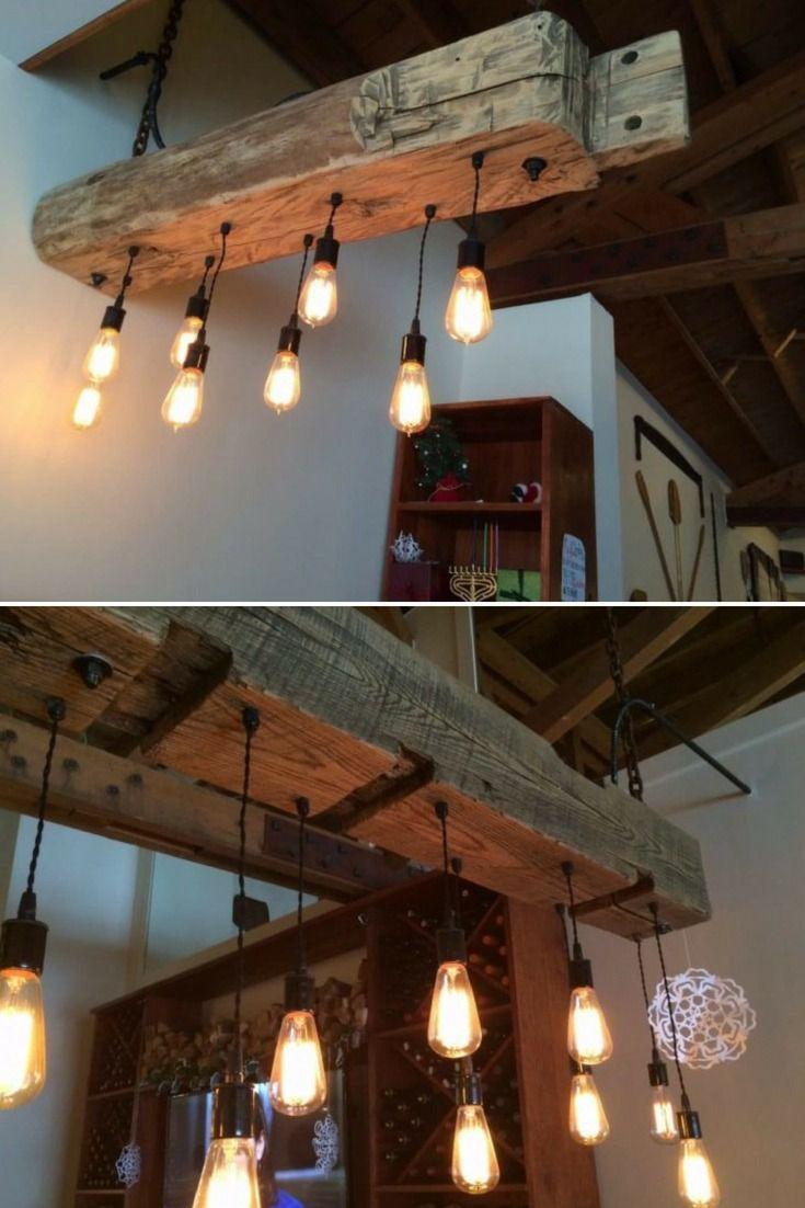 Rustic Reclaimed Wood Light Fixture Id Lights Wood Light
