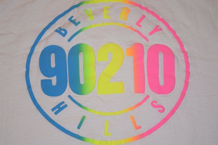 vtg '91 Beverly Hills 90210 Neon t shirt XL Usa Made Luke Perry Jason Priestley | eBay