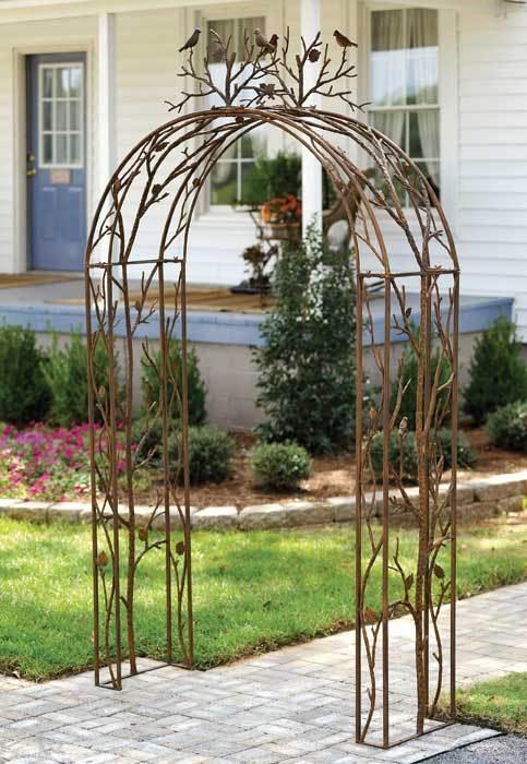 Metal Garden Arch Photograph Bird Iron Garden Arch