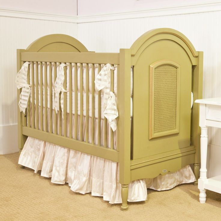 Lovely Crib For Vintage Style Nursery Decor