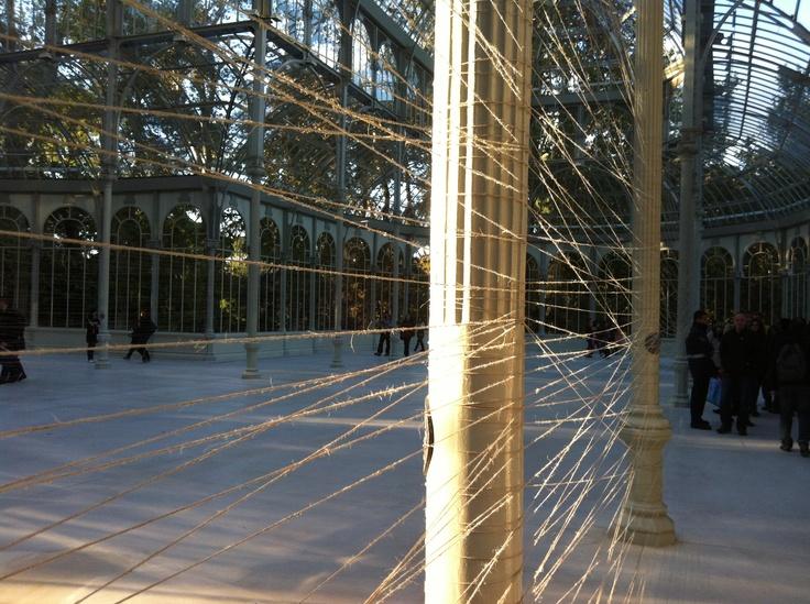 Hilos de cristal. Palacio de cristal. Retiro - Madrid