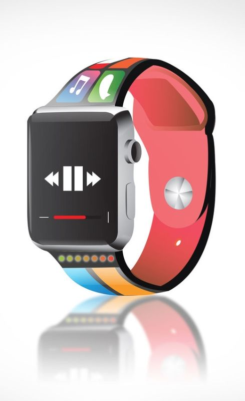 A smartband Apple Watch wristband concept that uses the watch band as an extensi…