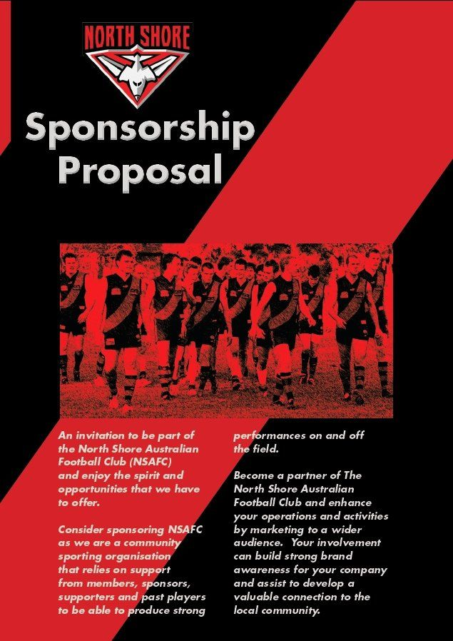 Sports Team Sponsorship Proposal Template Lovely Sponsorship Proposals North Shore Bombers Sportstg Sponsorship Proposal Proposal Templates Proposal