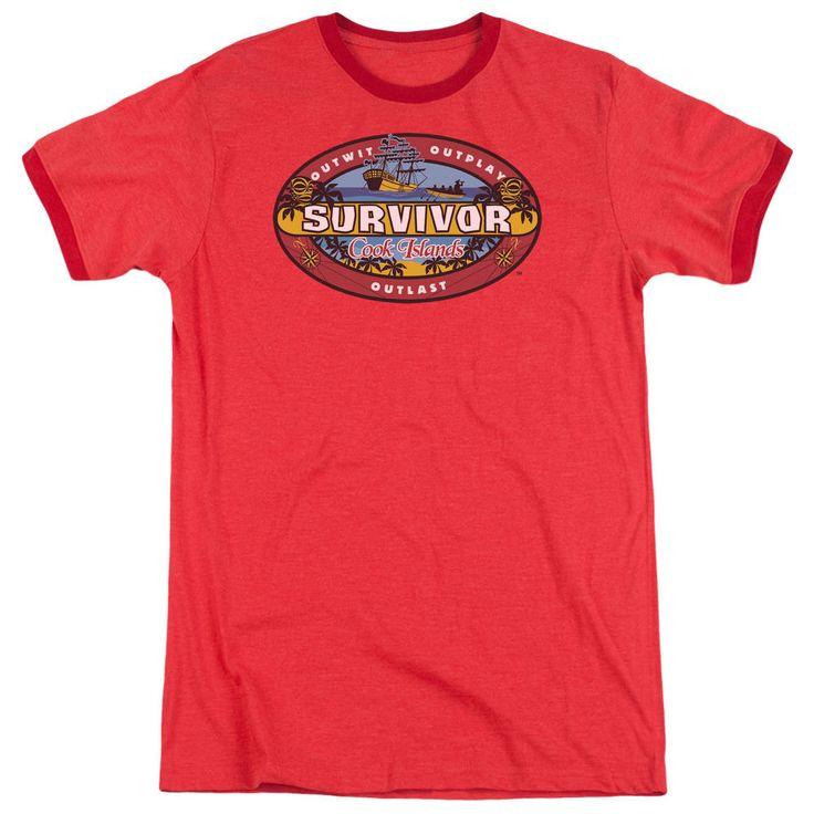 Survivor Cook Islands Red Ringer T-Shirt