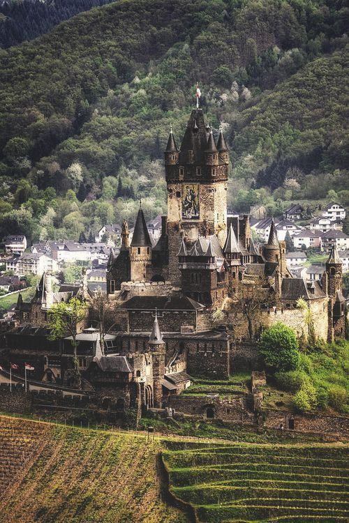 Medieval Castle, Cochem, Germany -- I've actually been to this castle…many times while stationed in Germany. It's amazing!
