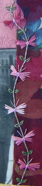 Butterfly Stitch, purple, long stitch
