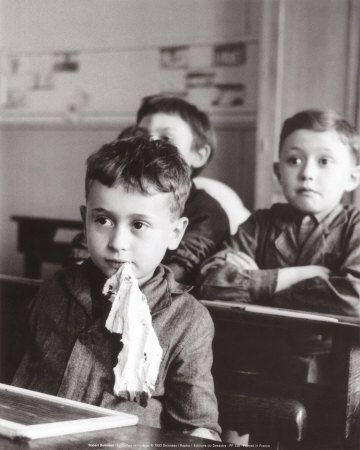 Le chiffon de l'ardoise, Robert Doisneau, 1956