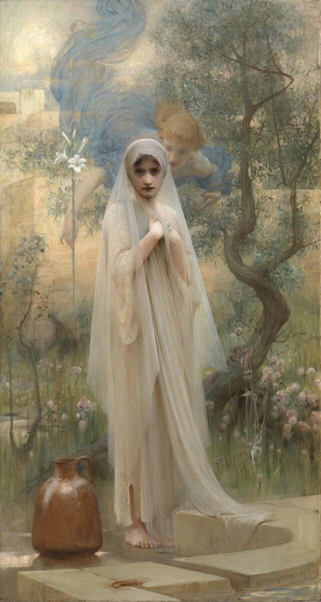 Annunciation by  Arthur Hacker (1892)