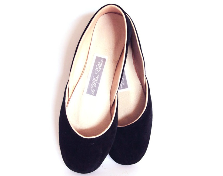 Black Velvet Ballet Shoes by The White Ribbon on myMzone