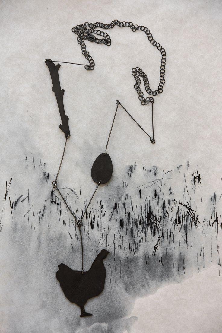 Necklace, Farm series: Hen. Rita Rodner 2016