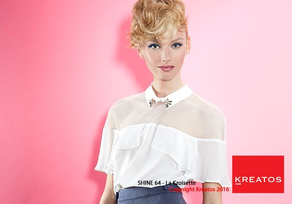 Kreatos kapsels voor vrouwen 2016 - La croisette - haar kort blond golvend opsteekkapsel