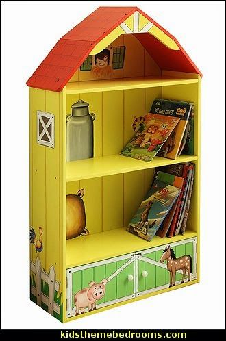 Farm Bedroom Ideas | ... Farm Barn Bookcase-kids theme bedrooms maries manor decorating ideas