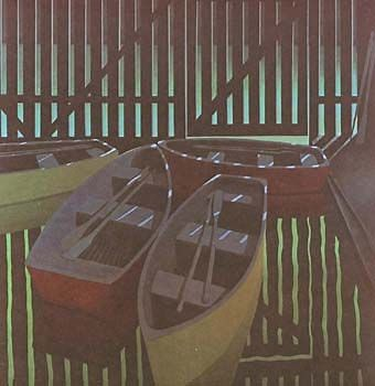 Boatsheds+by+Michael+Smither+for+Sale+-+New+Zealand+Art+Prints