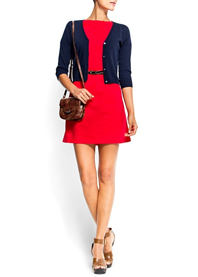 MANGO Straight-cut cotton dress - LOVEMango Straight Cut, Cotton Dresses, Mango Clothing