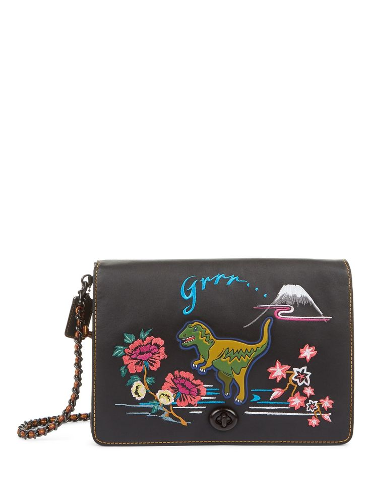 Coach 1941 | Dino Embroidered Leather Shoulder Bag