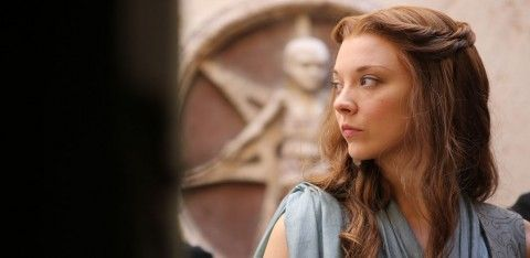 Natalie Dormer on Game of Thrones - I LOVE This hair! (Read about how MUCH I love it in the review. Just click the pic for that.) | Small Screen Scoop @SSScoop