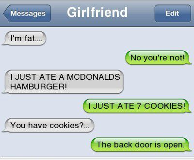 Some of the Best Girlfriend Texts Ever - Foodie