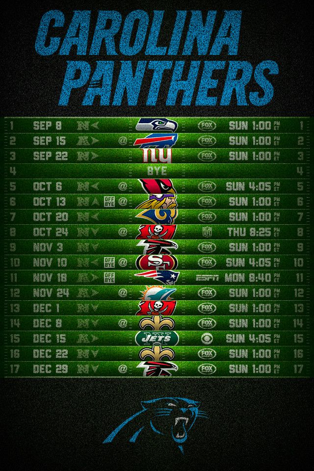 Carolina Panthers Wallpaper | Carolina Panthers 2013 Football Schedule iPhone 4 Wallpaper (640x960)