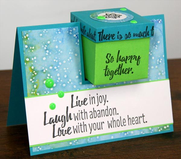 Check out this fun alternative to your typical gift box. Sure, you can't drop this card in the mail, but it's a fun presentation! I created mine with the fun elements in the Color Me Happy Club Stamp kit. The card measures 4.25×5.5″ and holds a 2″ square gift box. Follow these steps to make … Continue reading Gift Box Card Tutorial →