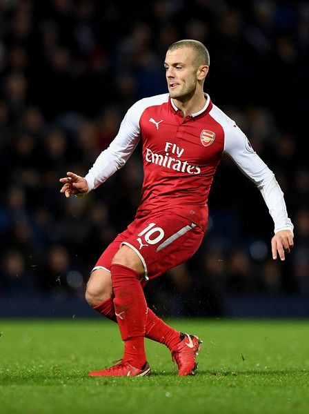 Jack Wilshire of Arsenal during the Premier League match between West Bromwich Albion and Arsenal at The Hawthorns on December 31, 2017 in West Bromwich, England.