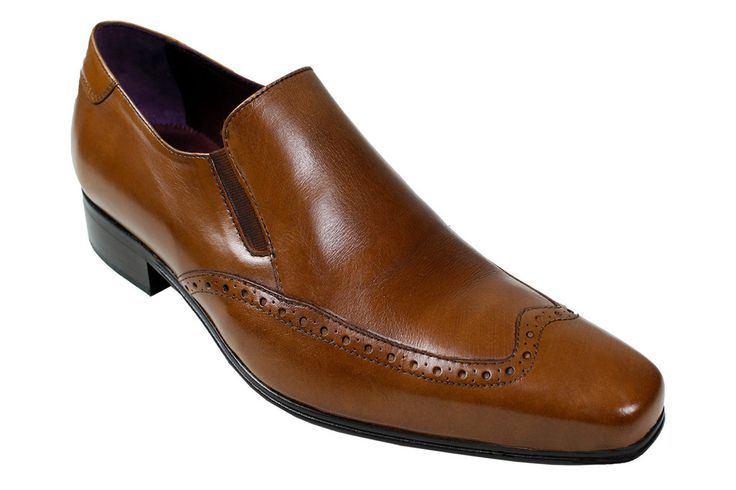 It is a slim design shoe in colours black or brown that is perfect for dressing up a pair of jeans. It is an Italian design with a detailed wing tip around the front of the shoe. We currently have the Juan model on sale as part of our men's designer shoe sale.