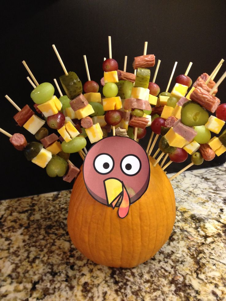 For the kiddos as a Thanksgiving day appetizer for our progressive dinner