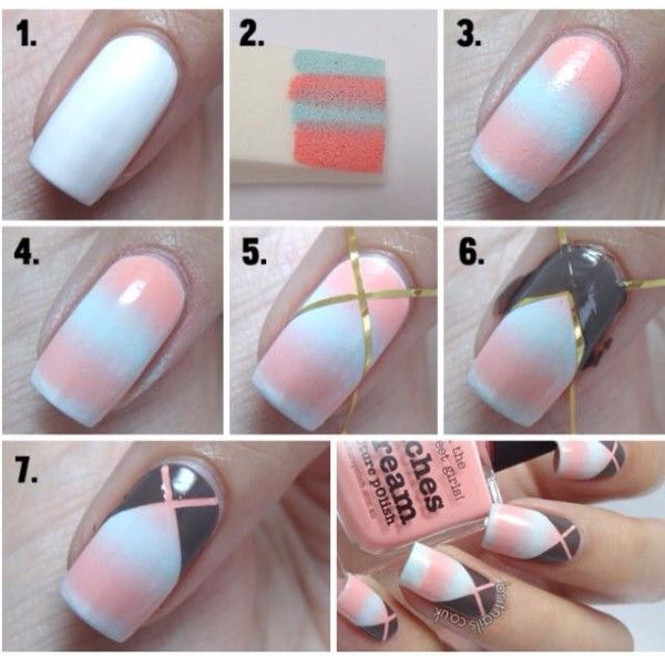 16 Easy Step By Step Nail Art Ideas For Beginners Millions Grace Nail Art For Beginners Trendy Nail Art Simple Nails