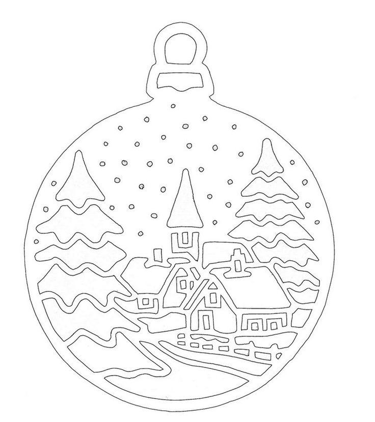 scherenschnitt vorlage weihnachten landschaft tannen