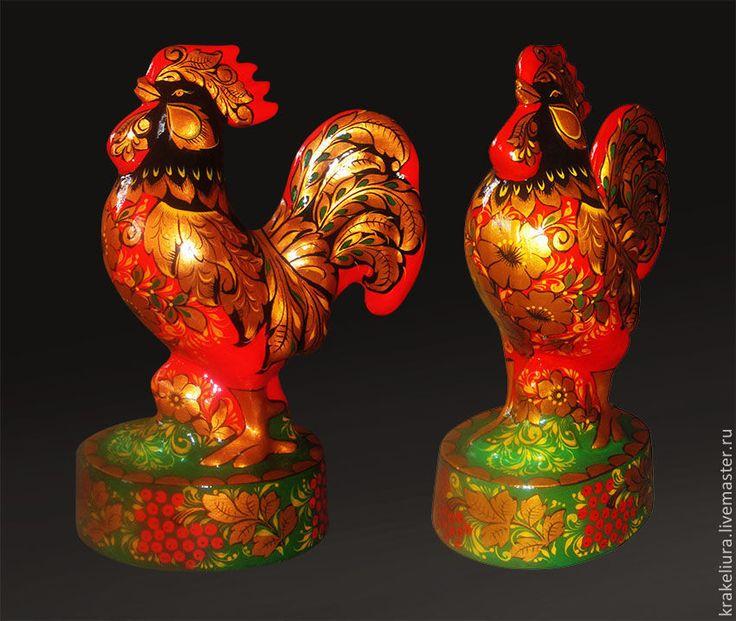 Купить Петушок Золотой гребешок - хохлома, хохломская роспись, петух, петушок, подарок