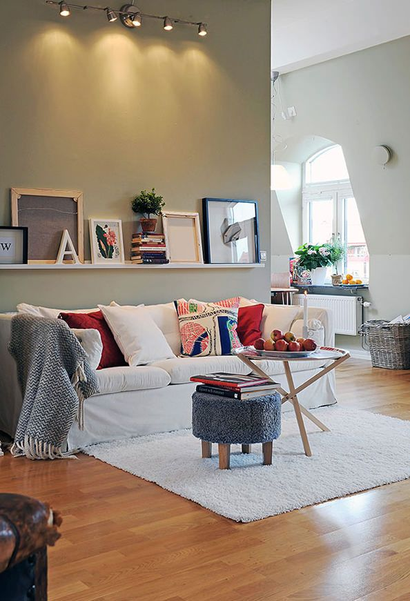 love this shelf over the couch