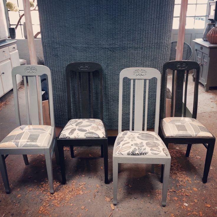 Tolle alte Holzstühle - aufgearbeitet und Einzigartig