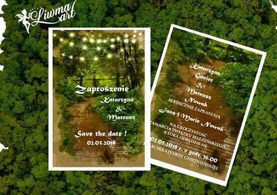 #zieleń#las#leśny#zaproszenia_na_ślub#green#greenery#weddingstyle#weddingcard#invitation www.liwmaart.pl